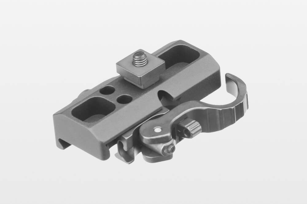 ERATAC - Tactical Mounts adapter_mit_nutstein_mit_hebel Adapter für Harris-Zweibein