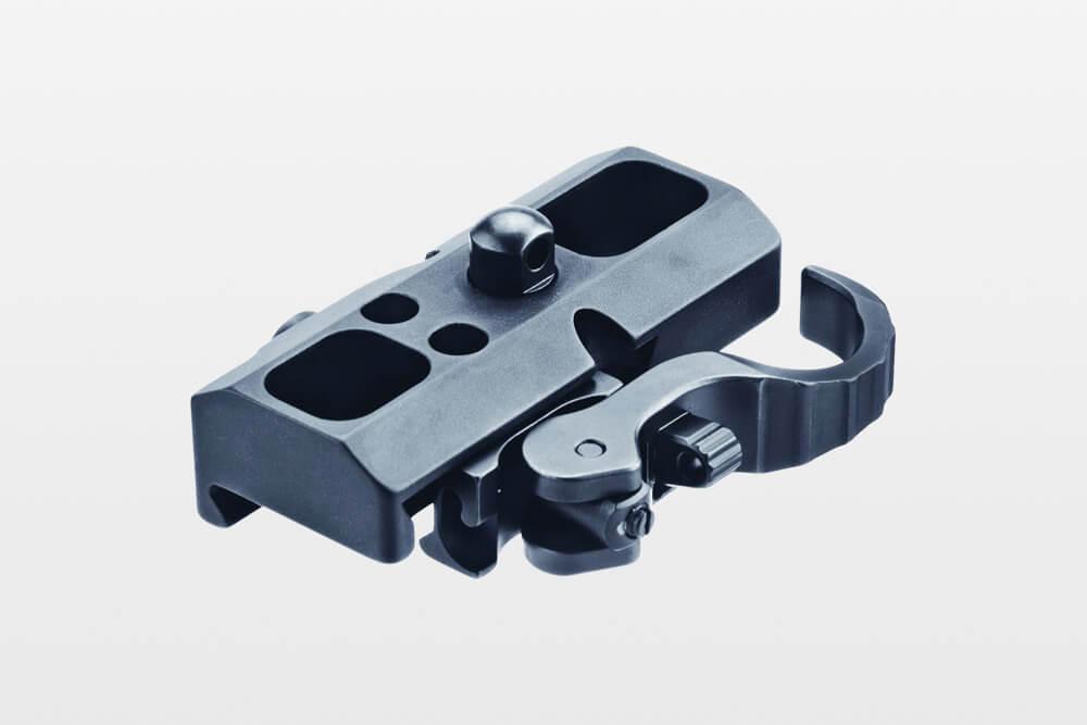 eratac adapter_mit_riemenbuegelkopf_mit_hebel Adapter for Harris Bipod